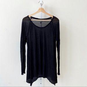 Lululemon Post Bliss Tee Long Sleeve Tunic Black